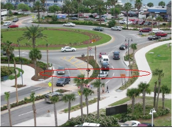 Clearwater Beach Florida Roundabout